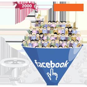 Facebook 2000 fan